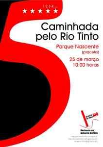Caminhada pelo Rio Tinto, 25 de março