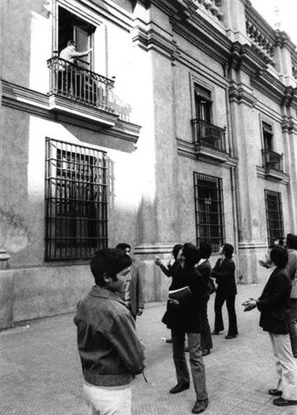 la ultima foto de Allende