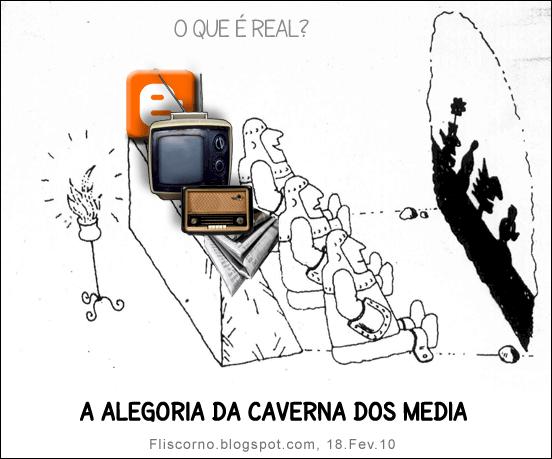a alegoria da caverna dos media