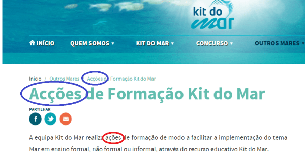 kit do mar