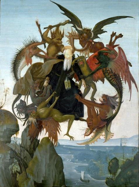 Michelangelo Buonarrote_O tormento de S Antão  1489
