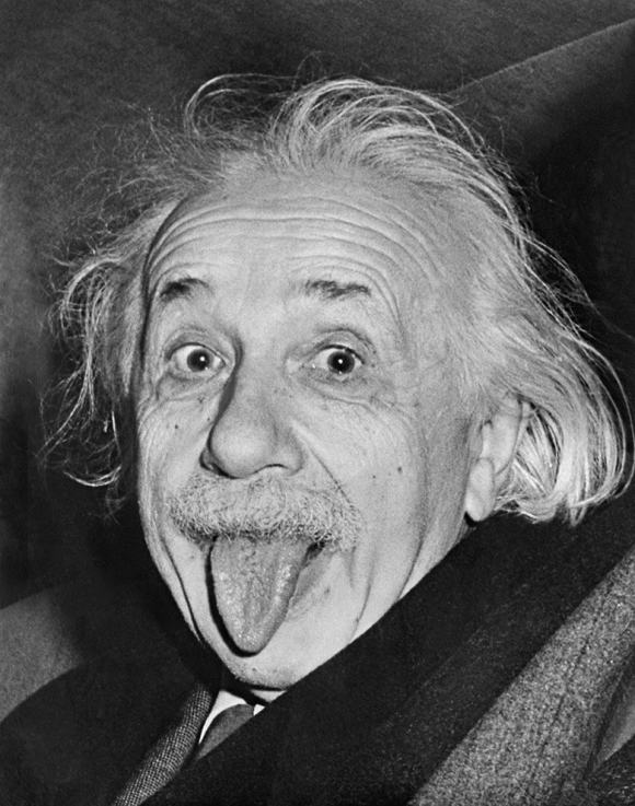 Albert Einstein sticks his tongue out to photographers in 1951