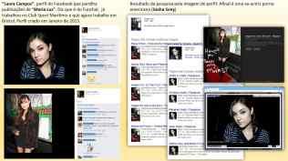 """""""Laura Campos"""", perfil do Facebook que partilha publicações de """"Maria Luz""""."""