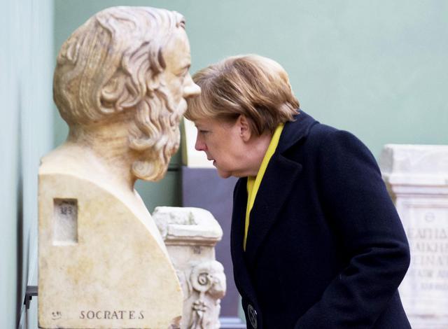 German Chancellor Angela Merkel in Florence