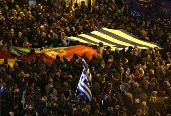 Manif Grécia