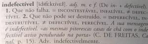 indefectível