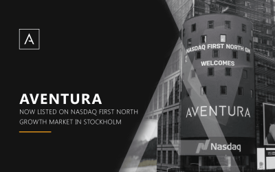 Aventura Listed on Nasdaq First North Growth Market