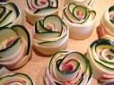 Rollitos de masa de hojaldre con calabacines