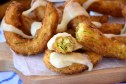 churros con calabacin y queso fundido