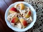 helado melocotones y plátano