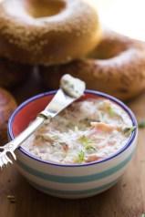 Crema para untar con salmón ahumado, eneldo y limón