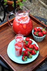 refrescante lemonada con fresa