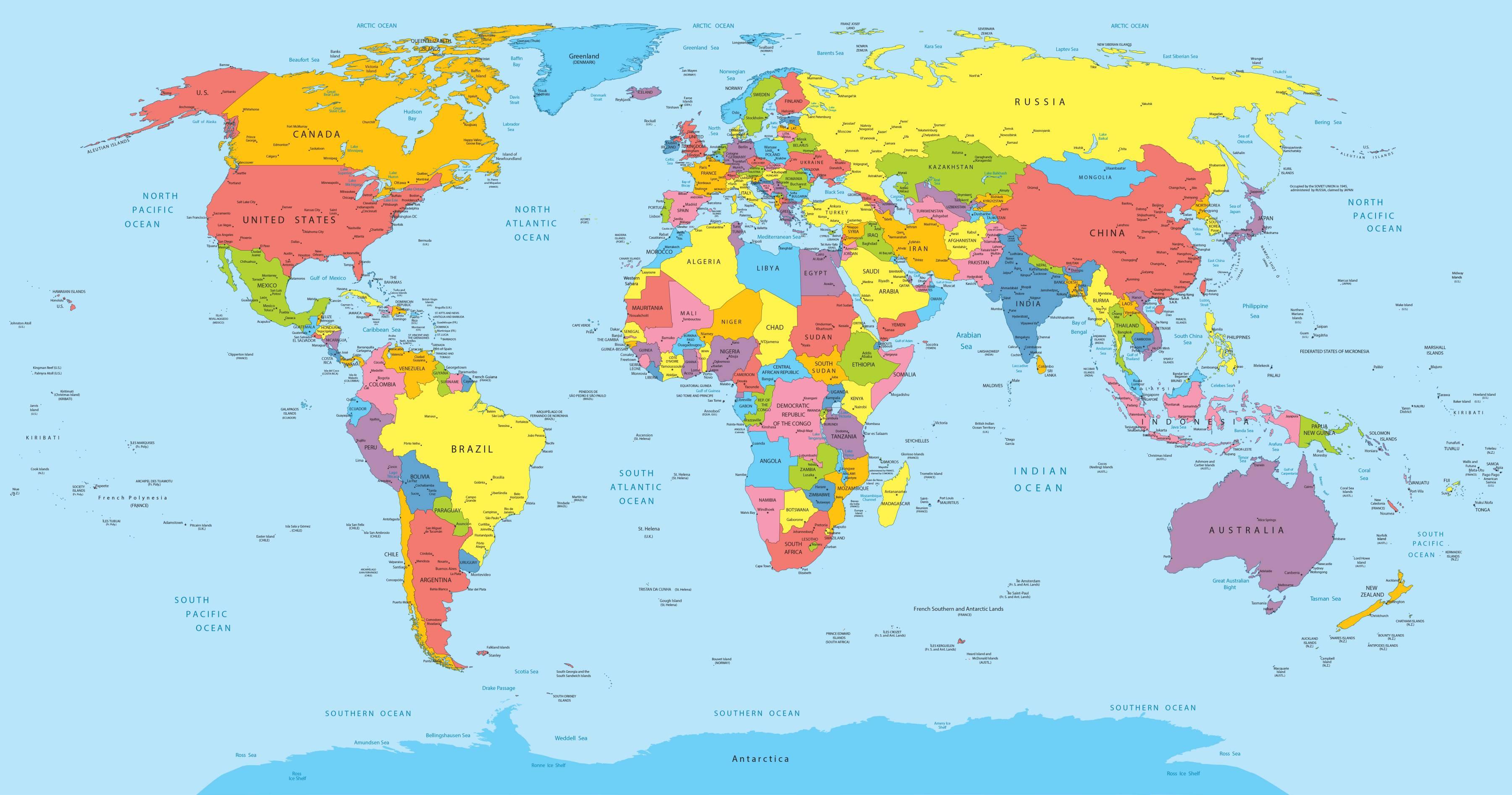 carte du monde 2020 AuTour du Monde   Round #1