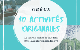 10 ACTIVITES ORIGINALES EN GRECE