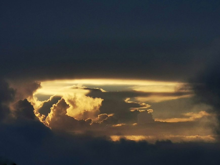 San josé del Pacífico - drone view clouds and sunset nuages coucher de soleil atardecer