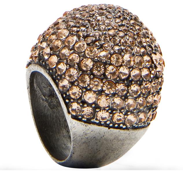 Peach ring glass zinc gems beads