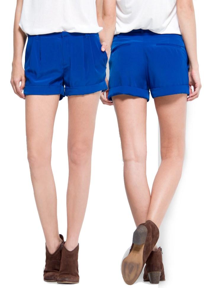 MANGO Electric blue shorts ink blue Cortita