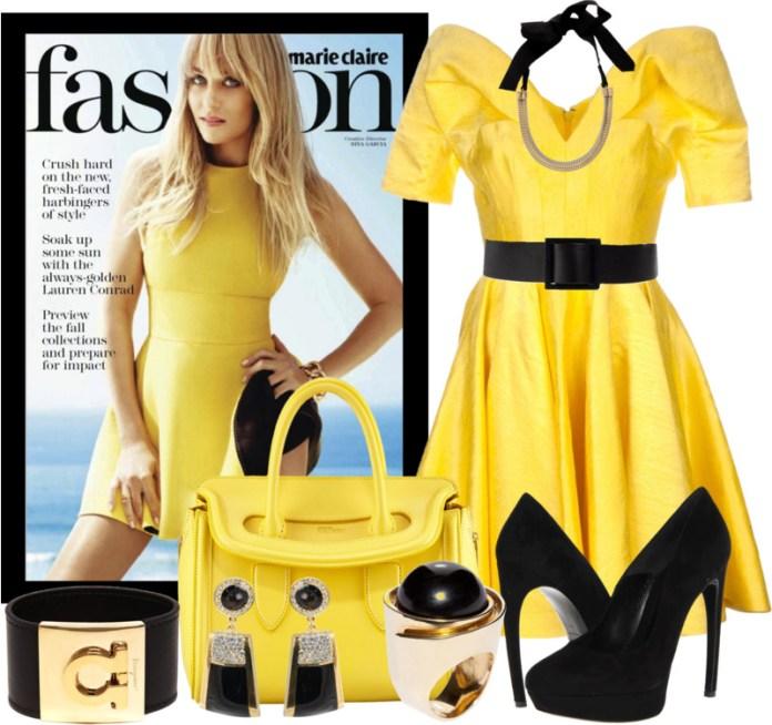 Alexander McQueen Small Heroine Satchel Bag yellow handbags outfit