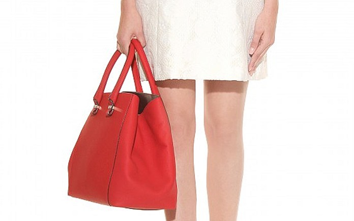Victoria Beckham red liberty leather shopper tote bag