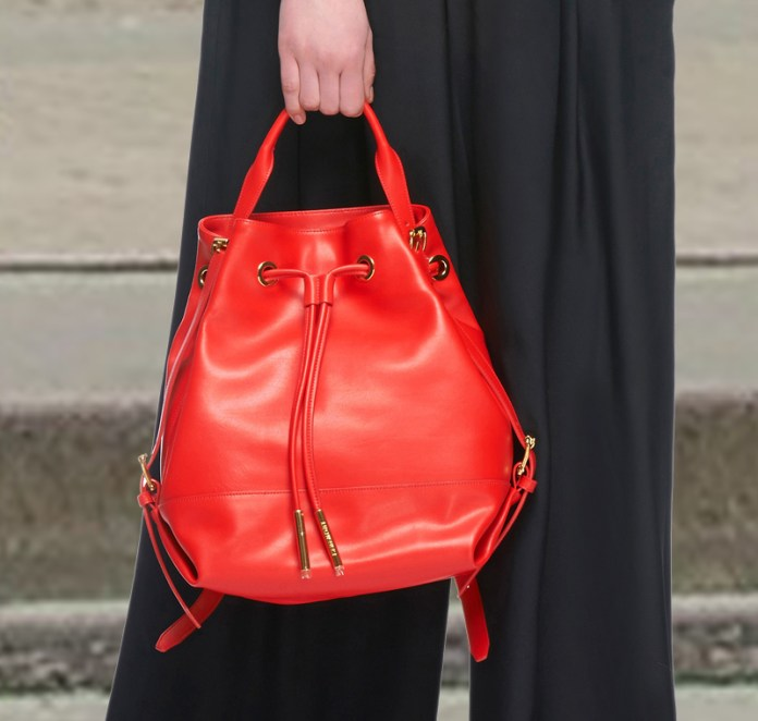 Opening Ceremony red Izzy Leather Back Pack