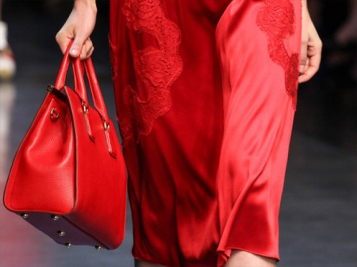 Dolce & Gabbana red Eva textured-leather tote