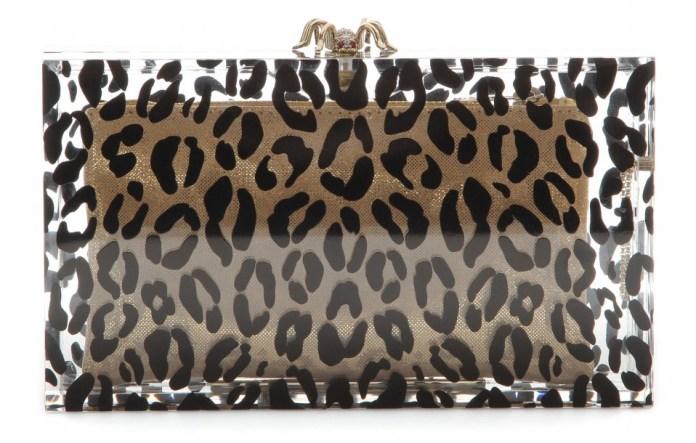 Charlotte Olympia Pandora Leopard box clutch