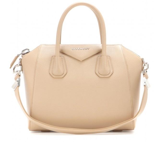 Givenchy Antigona light beige camel leather tote bag