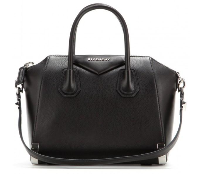 Givenchy Antigona small black textured leather tote bag