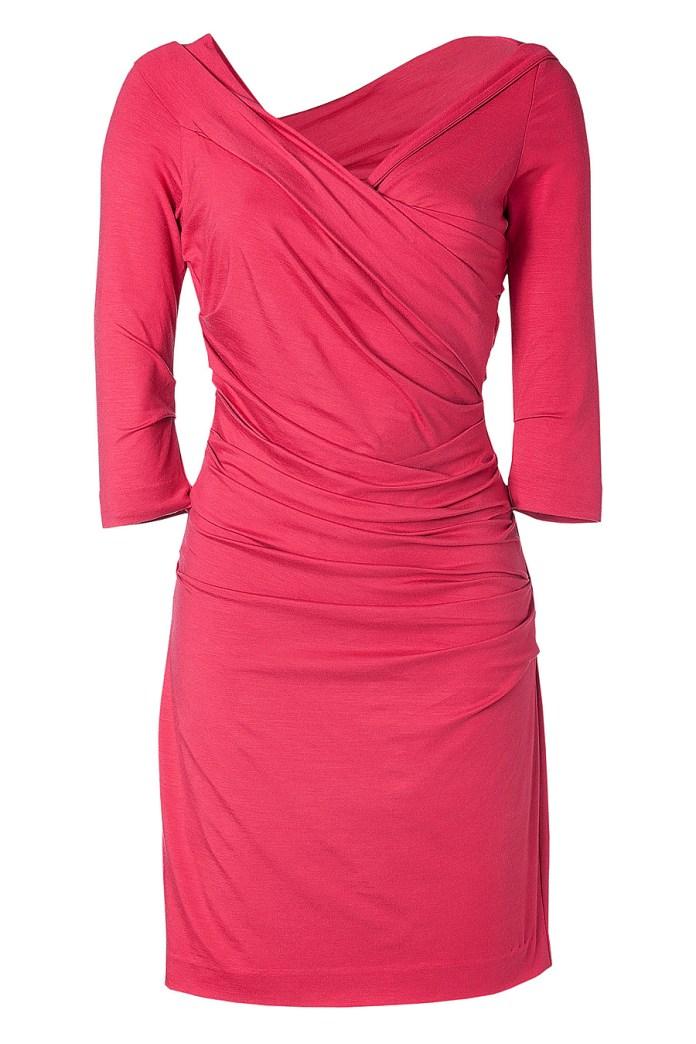 Diane von Furstenberg Bentley Short Dress in Fuschia Rose