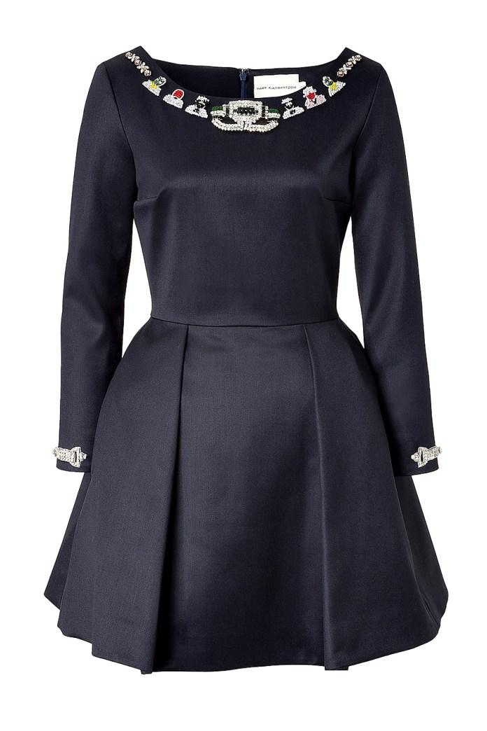 Mary Katrantzou Wool Embellished Copelia Dress