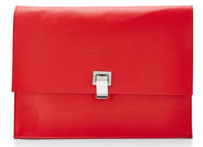 Proenza Schouler Large red Leather Lunch Bag