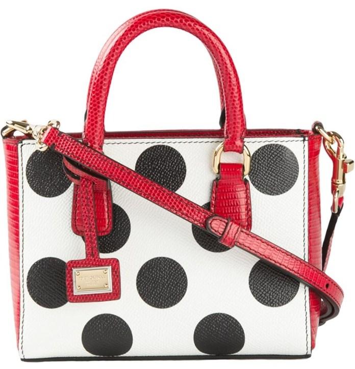 Dolce & Gabbana micro polka dot tote