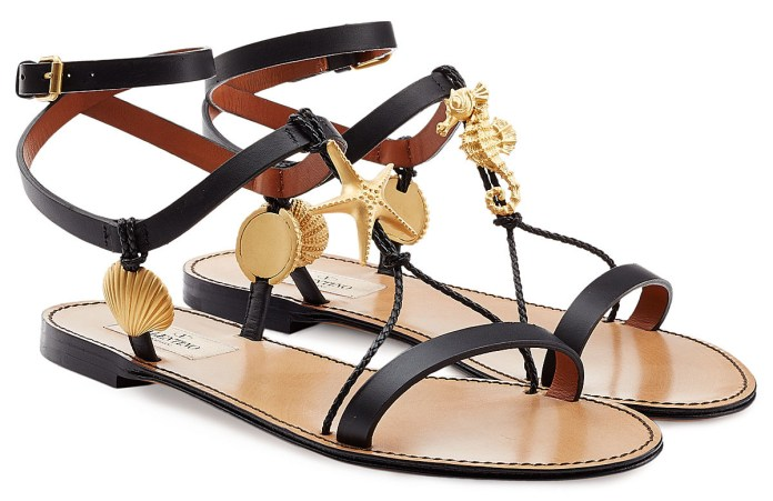 VALENTINO Abyss Leather Sandals