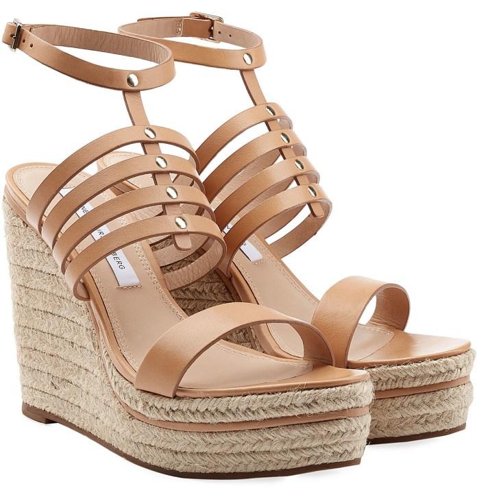 DIANE VON FURSTENBERG Espadrille Wedge Sandals