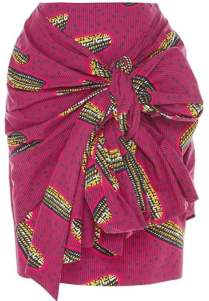Stella Jean Dugongo Printed Draped Skirt