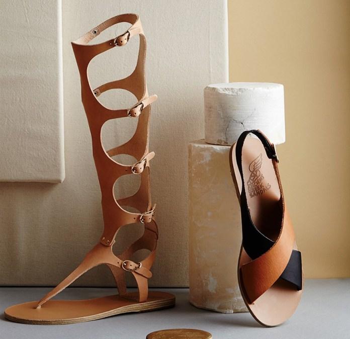 Ancient Greek Sandals Maria Sandals and Frini sandals