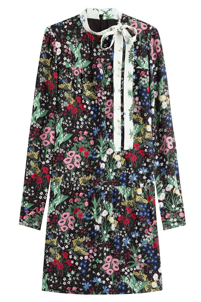 Valentino jacquard dress Celia Birtwell print inspired by Sandro Botticelli Primavera painting