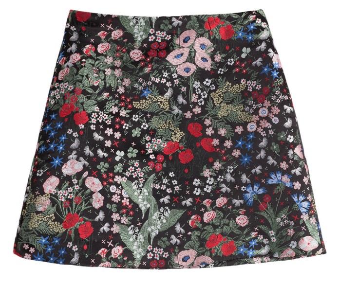Valentino jacquard skirt Celia Birtwell print inspired by Sandro Botticelli Primavera painting