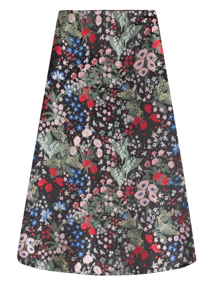 Valentino printed silk midi skirt Celia Birtwell print inspired by Sandro Botticelli Primavera painting