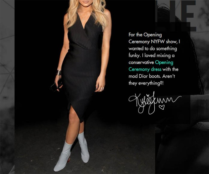 kylie jenner opening ceremony dress dior boots