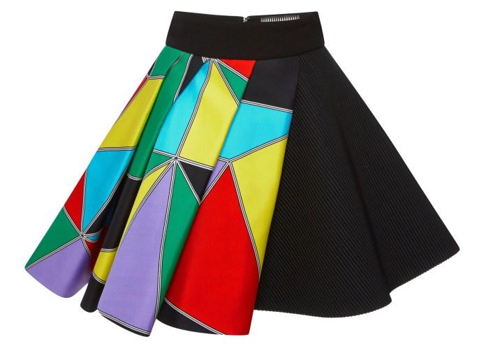 Fausto Puglisi multicolor printed flare skirt