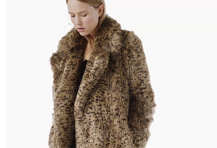 MANGO leopard faux fur coat 2