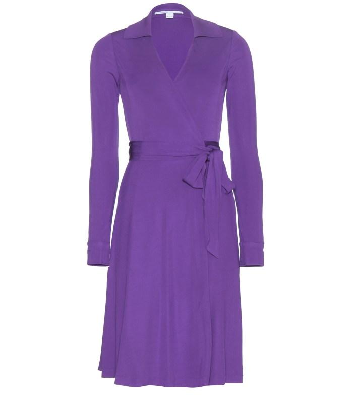 Purple Diane von Furstenberg wrap dress - blue and purple
