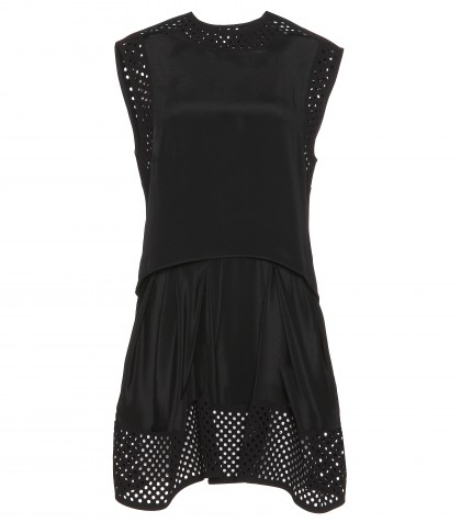 3.1 Phillip Lim Laser-cut Layered Silk Mini Dress