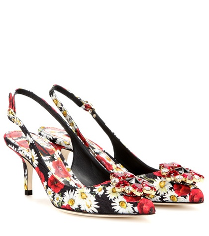 Dolce & Gabbana Bellucci Embellished Brocade Pumps