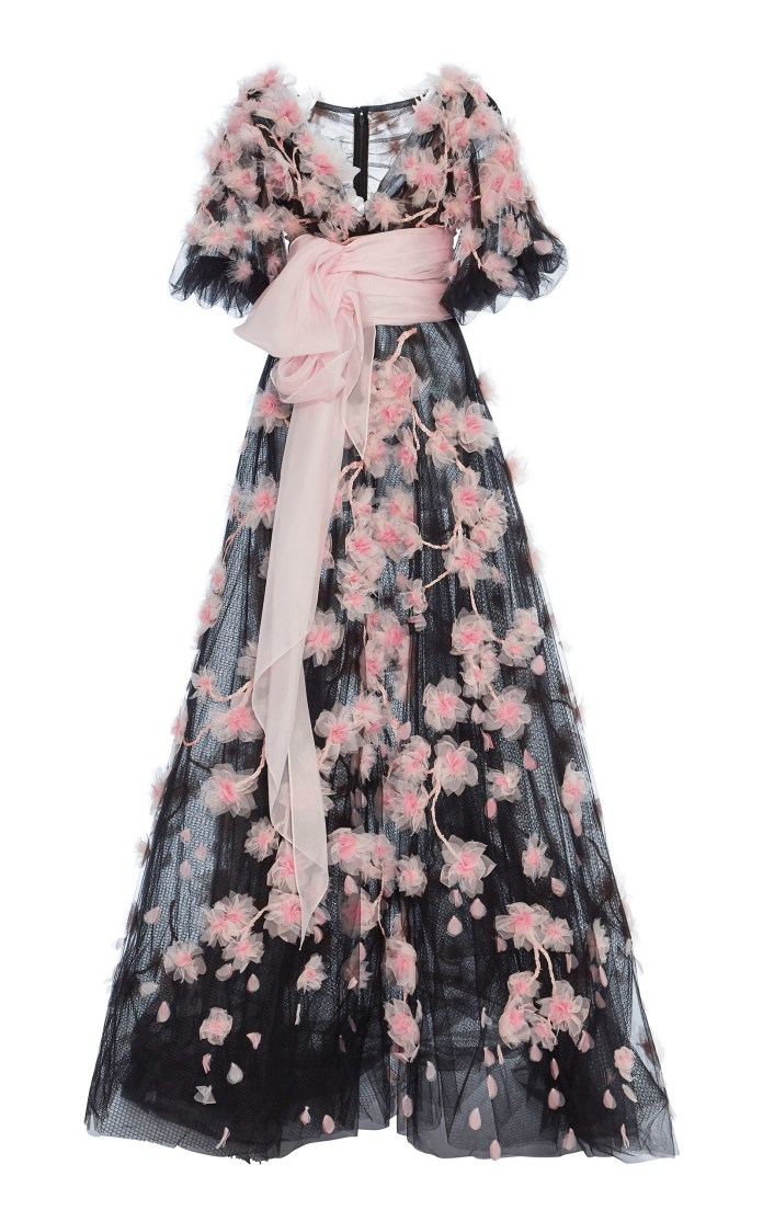 Marchesa SS18 Collection Cherry Blossom Tulle Ball Gown