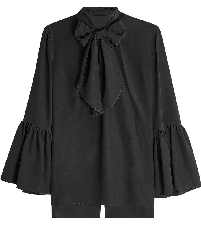 Fendi blouses black silk crepe fendi blouse 950