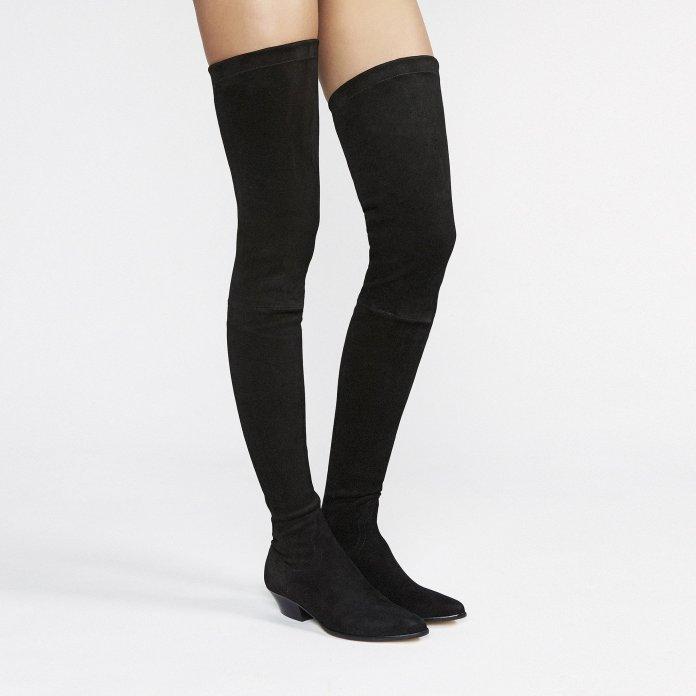 Go West thigh high stretch suede boots Tamara Mellon