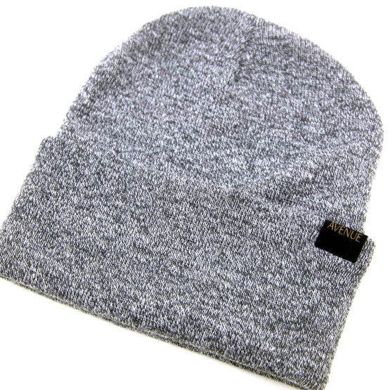 Avenue Staple Beanie Detail Heather Grey