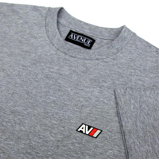 Heather Grey AV Sport T-Shirt Detaill